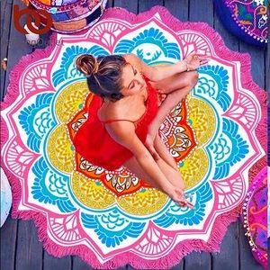 NEW MANDALA FLOWER Tassel Meditation Expand Mat